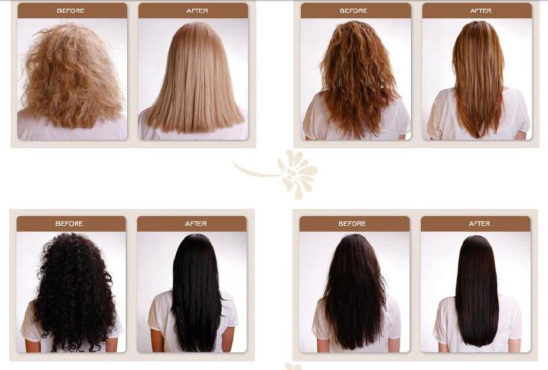 produkter som gör håret rakt